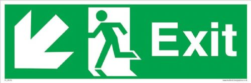 Fire Exit Running man Down Left